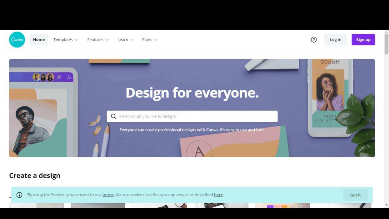 سایت canva برای ساخت استوری